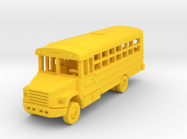 Thomas 29 Passenger Bus in Yellow Processed Versatile Plastic: 1:144
