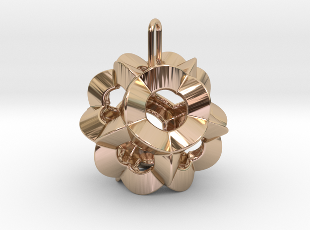 Pendant-c-6-5-20-90-p1o in 14k Rose Gold Plated Brass