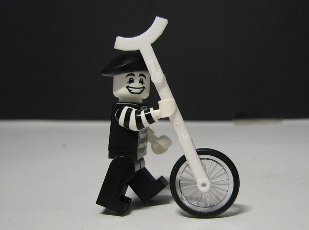 Minifigure Unicycle Giraffe 3d printed Minifigure and wheel assembly not included.
