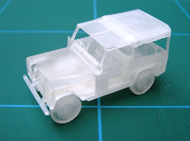 1/48 Scale Land Rover 3d printed
