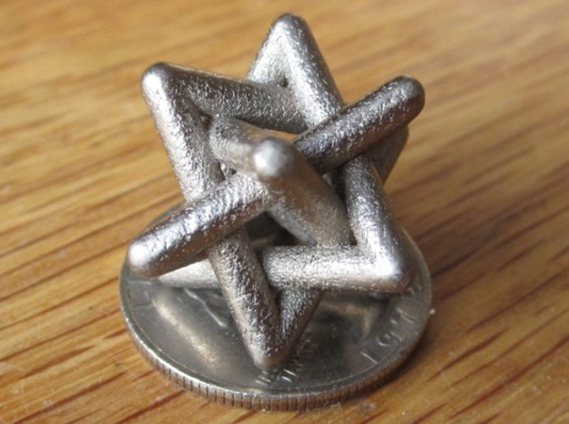 Four Tangled Triangles Medium in Polished Nickel Steel
