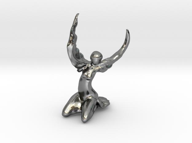 Phoenix in Polished Silver