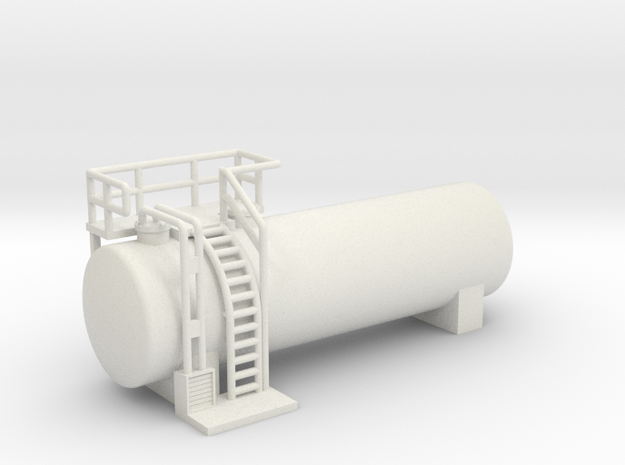 N Scale Diesel Storage Tank V3 (WSF) in White Natural Versatile Plastic