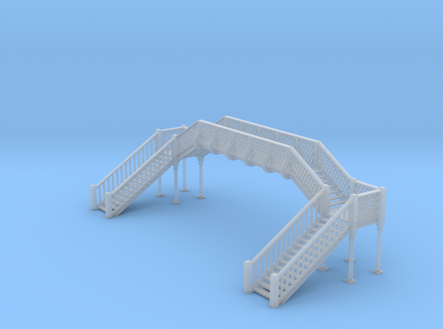 Footbridge N Scale 3d printed