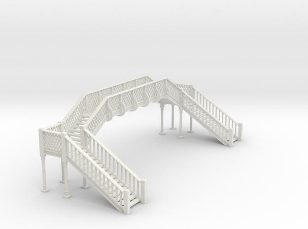 Lattice Footbridge OO Scale in White Natural Versatile Plastic