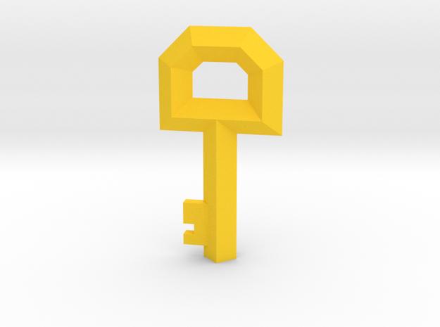 Small Key Replica  (Legend of Zelda, 1986) in Yellow Processed Versatile Plastic