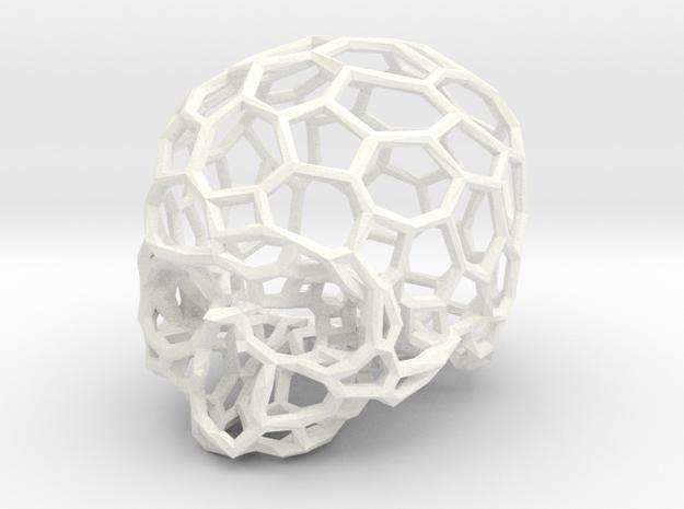 Voronoi Skull [1:0.5] in White Processed Versatile Plastic