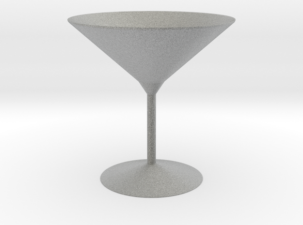 3d printed Martini Glass in Metallic Plastic