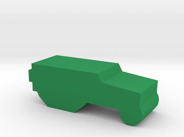 Game Piece, WW2 Allies Half-track in Green Processed Versatile Plastic