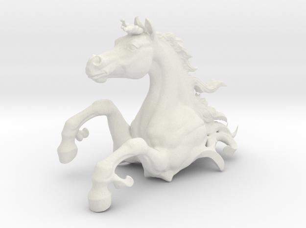 Skin HorseTest7 in White Natural Versatile Plastic: Medium