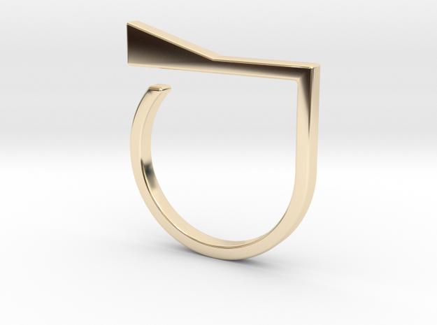 Adjustable ring. Basic model 8. in 14K Yellow Gold