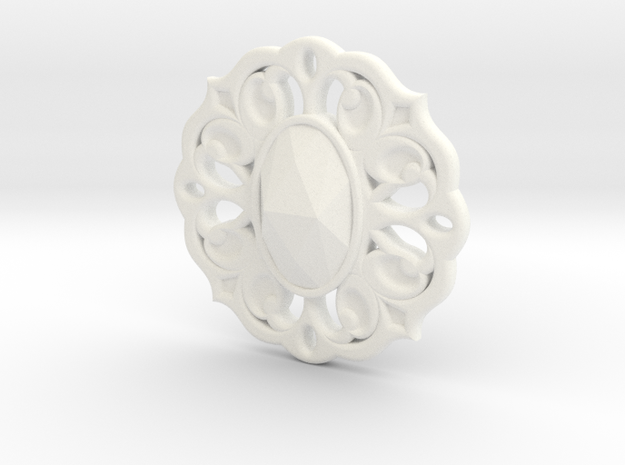 Fall Of Grayskull Amulet in White Processed Versatile Plastic