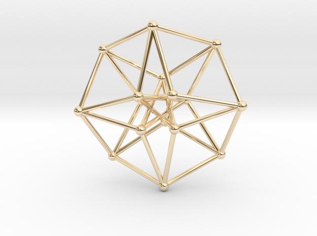 Toroidal Hypercube 35x1mm Spheres in 14k Gold Plated Brass
