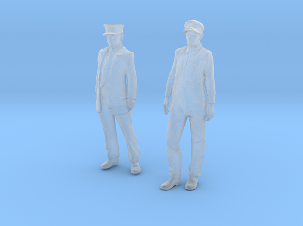 1:29 scale Conductor and Engineer Combo  in Smooth Fine Detail Plastic