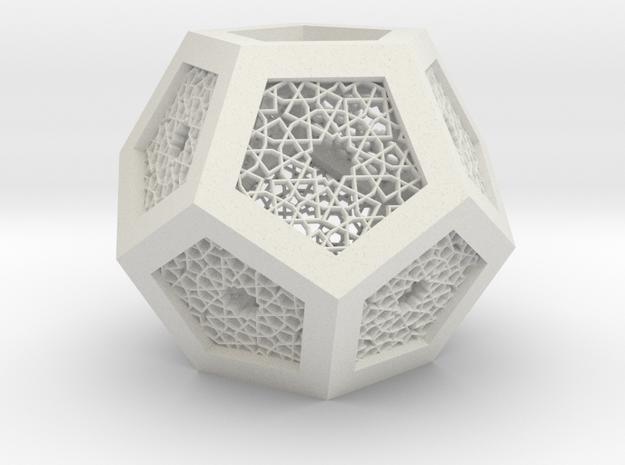 J&M Islamic Inspired Geometric Lamp Shade in White Natural Versatile Plastic