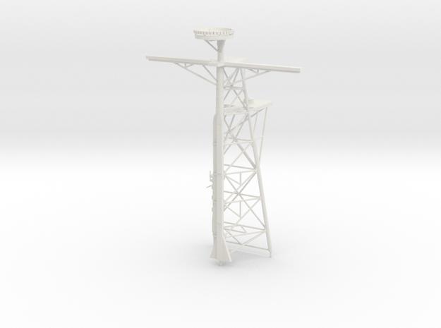 1/96 Scale Ticonderoga Mast #2 - Tall mast in White Natural Versatile Plastic