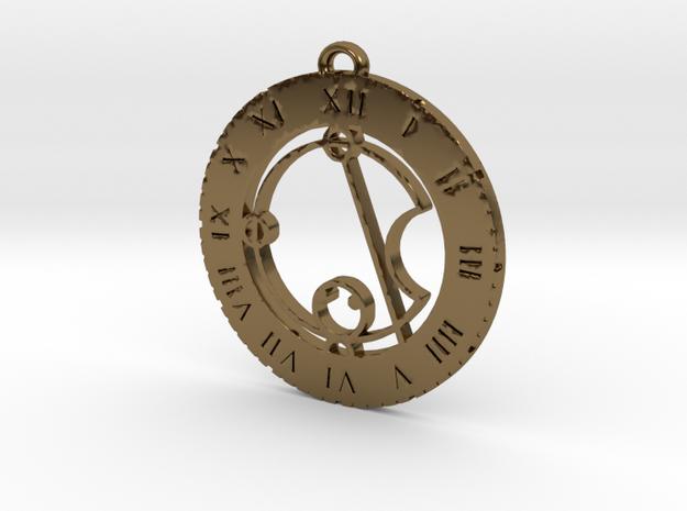 Katie - Pendant in Polished Bronze
