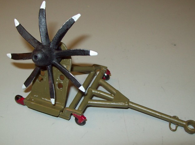 NP2000 1b 3x8 1/72 scale 3d printed NP2000 on a propeller stand