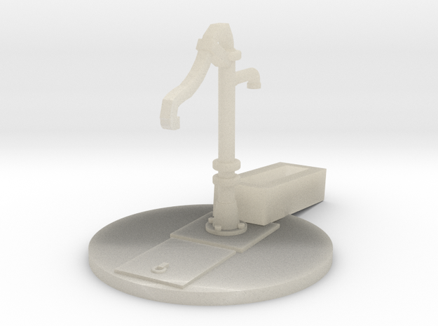 Hand Pump, Water with Base and Trough HO Scale