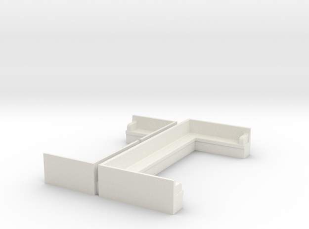 Concrete Seating, KCS Station Noel, MO  HO Scale in White Strong & Flexible