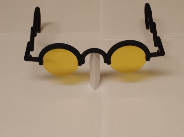 Trigun Sunglasses Frame 3d printed