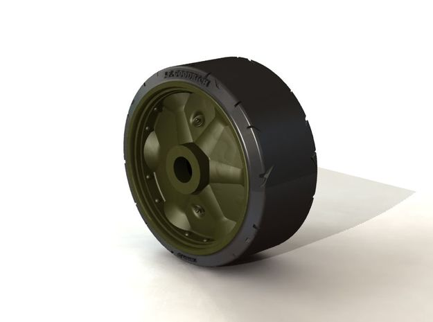 B168525 STAMPED WHEEL Distressed 1:35 in Smooth Fine Detail Plastic