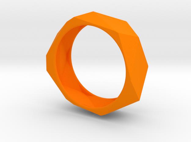 Geo Bracelet  in Orange Processed Versatile Plastic