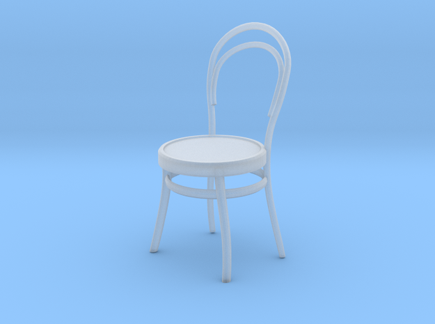 Miniature 1:48 Cafe Chair in Smooth Fine Detail Plastic