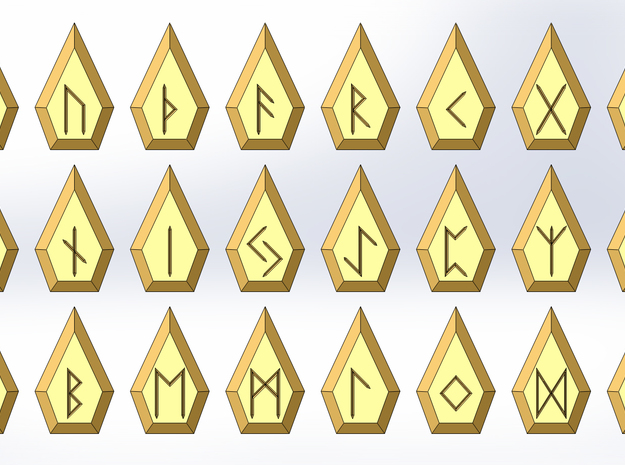 Gem Rune Set [Small] in Sandstone