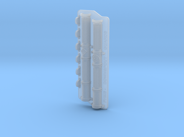 1:35 Scale Downspout Guards and pipe brackets. in Smoothest Fine Detail Plastic