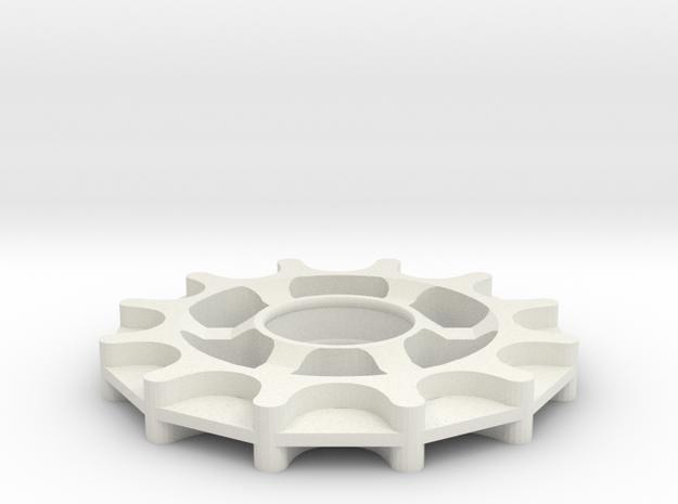 Idler - GT2-11 belt - 12 teeth in White Natural Versatile Plastic