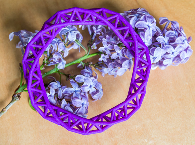 Triple Helix Bracelet (63 mm) in Purple Processed Versatile Plastic