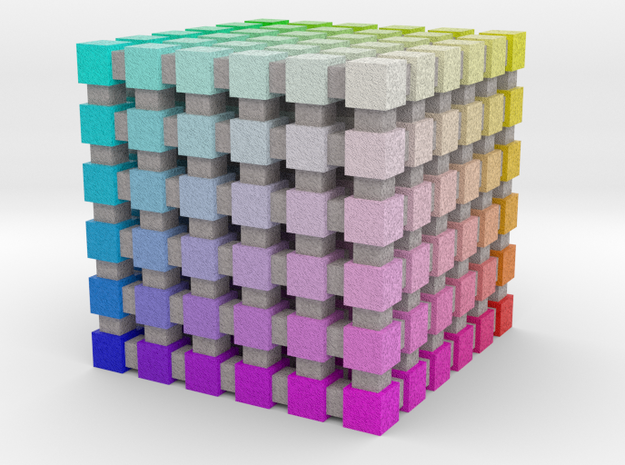 Web Safe Color Cube: 1 inch in Full Color Sandstone