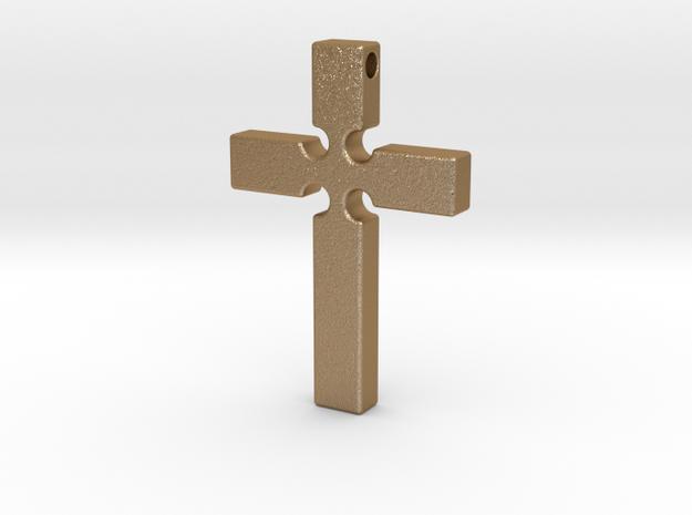 Monroe Cross Revised in Matte Gold Steel