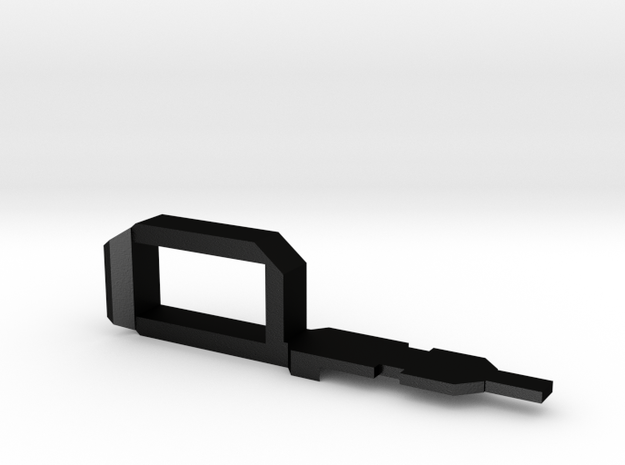 Myth Series Handle Right in Matte Black Steel