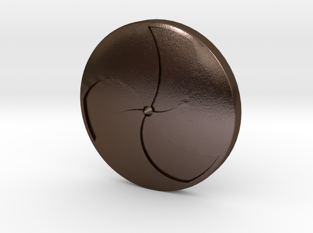 Viking Shield 2 in Polished Bronze Steel