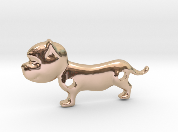 Bulldog Pendant in 14k Rose Gold Plated