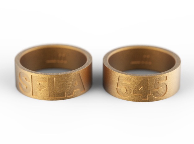 SFLA / 545 (size 6.5) in Polished Gold Steel
