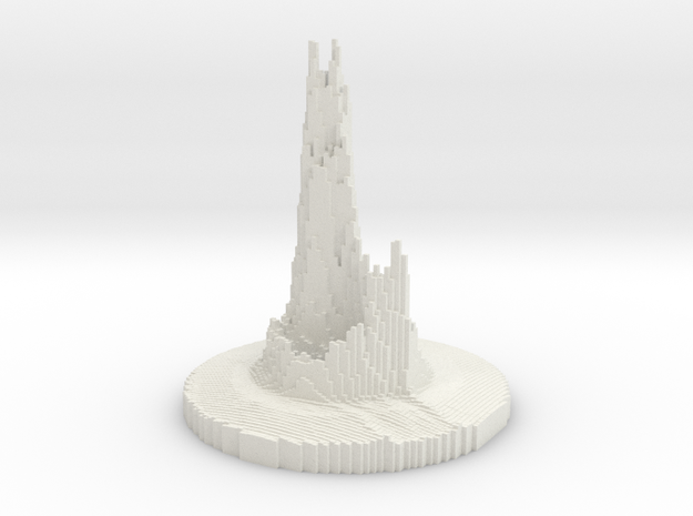 Abstract Castle in White Strong & Flexible