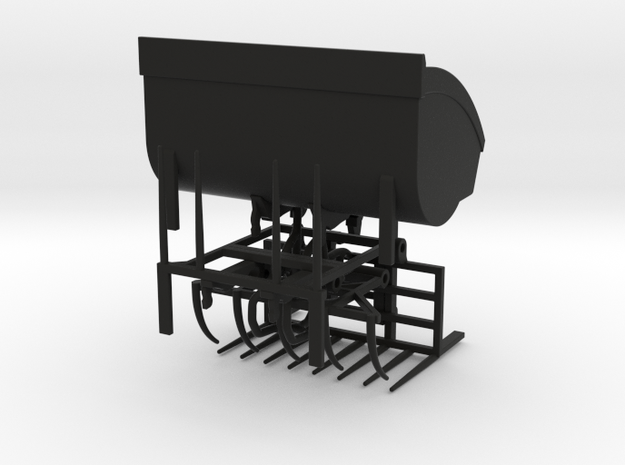1/64 Wheel Loader Hay Attachments in Black Natural Versatile Plastic