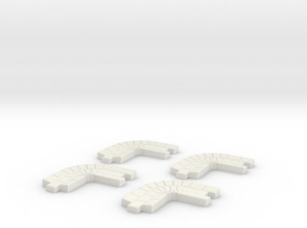 Rinnenkurve 4Stück in White Strong & Flexible