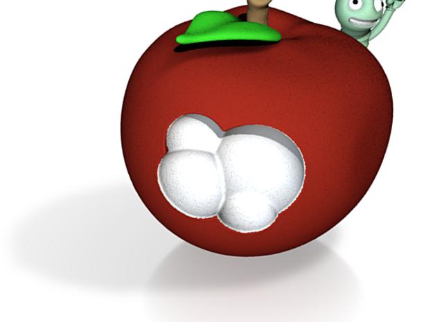 Worm Apple 3cm 3d printed