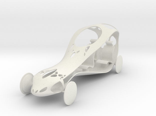 Car FullScale (repaired) in White Natural Versatile Plastic