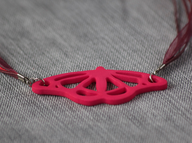 Viceroy Butterfly Pendant in Pink Processed Versatile Plastic