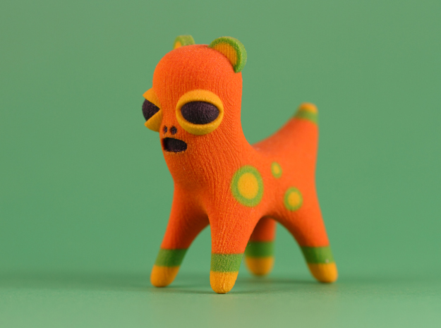 Orange Spotted Animal in Full Color Sandstone