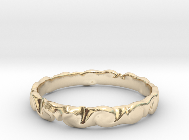 Cloud ring(size = USA 5.5)  in 14k Gold Plated Brass