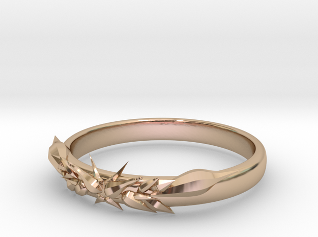 Ice ring(size = USA 5.5)  in 14k Rose Gold