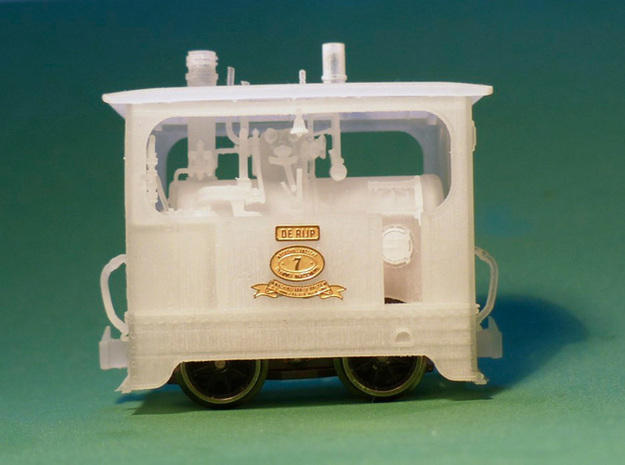 Scale 1:87 Tramway loco interior 3d printed Use it in your own tramway locomotive.