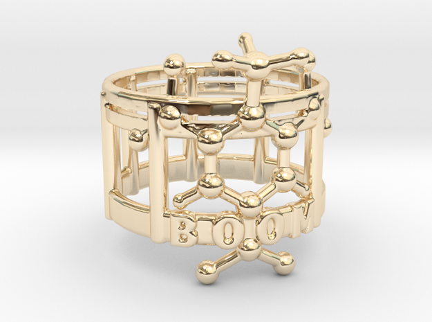 TNT boom ring in 14k Gold Plated