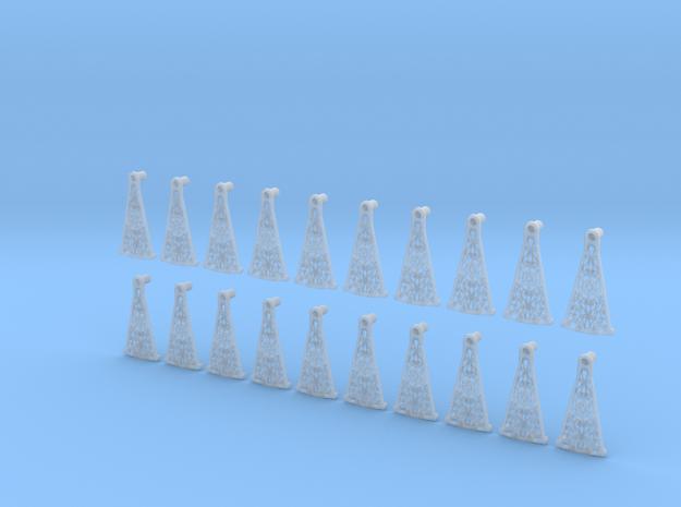 Decorative Spiral Stair Treads 1:24 in Smooth Fine Detail Plastic